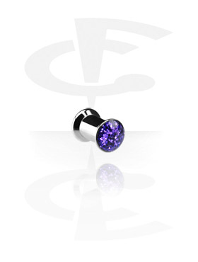 Tuneli & čepovi, Glitterline Box Plugs, Surgical Steel 316L