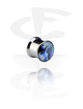 Tunnelit & plugit, Mother of Pearl Box Plug, Surgical Steel 316L