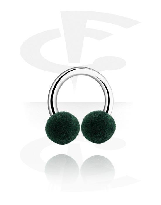 Kruhové činky, Circular barbell s Velvet Ball, Chirurgická ocel 316L