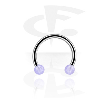 Circular Barbells, Circular barbell, Acero quirúrgico 316L ,  Acrílico