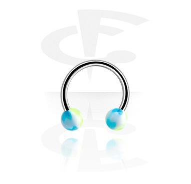Circular Barbells, Circular barbell, Surgical Steel 316L ,  Acrylic