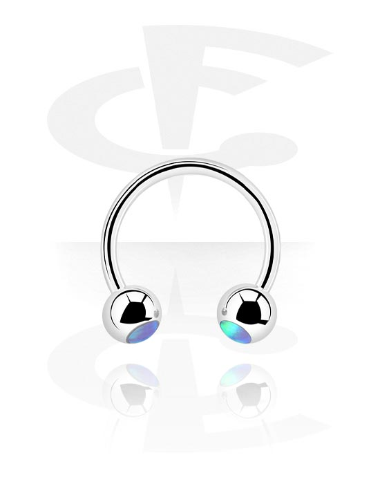Circular Barbell, Circular barbell con palline, Acciaio chirurgico 316L