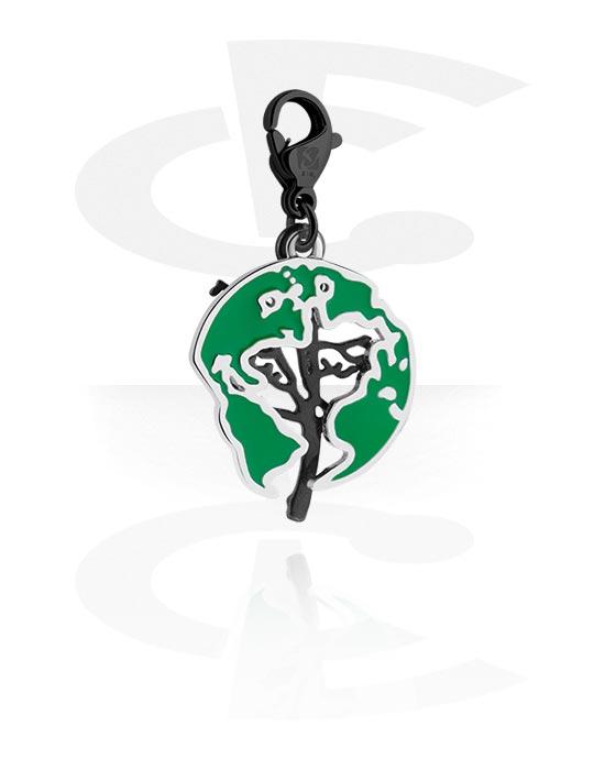 Riipukset Rannekoruihin, Charm for Charm Bracelet kanssa tree design, Kirurginteräs 316L, Pinnoitettu messinki
