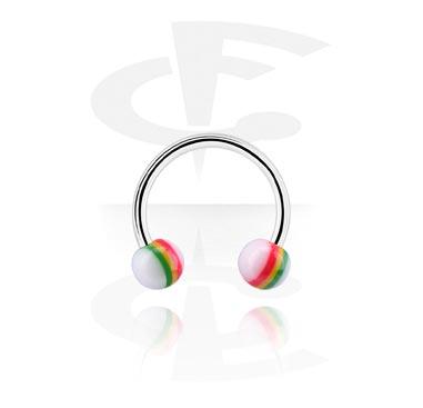 Circular Barbell, Circular barbell, Acciaio chirurgico 316L, Acrilico