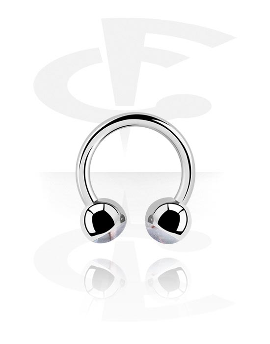 Circular Barbells, Circular Barbell with Mother Of Pearl Design, Surgical Steel 316L