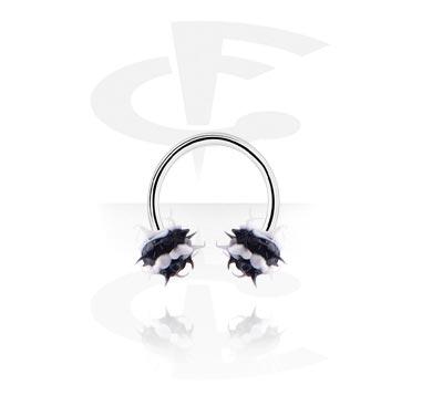 Circular Barbells, Circular barbell, Acero quirúrgico 316L, Silicona
