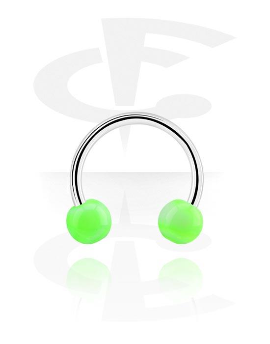 Kruhové činky, Circular barbell s Balls, Chirurgická ocel 316L, Akryl