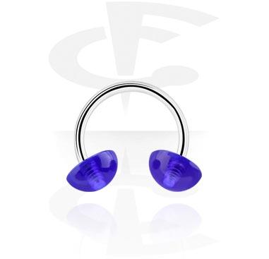 Circular Barbells, Circular barbell, Surgical Steel 316L, Acrylic