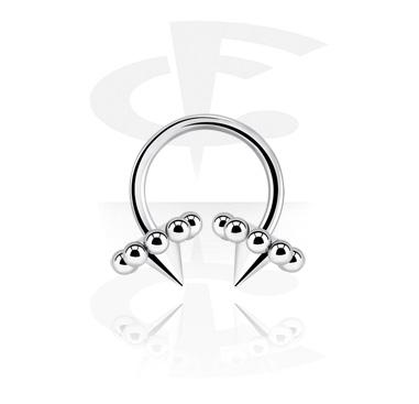 Circular Barbell, Circular Barbell con Volcanoes, Chirurgico acciaio 316L