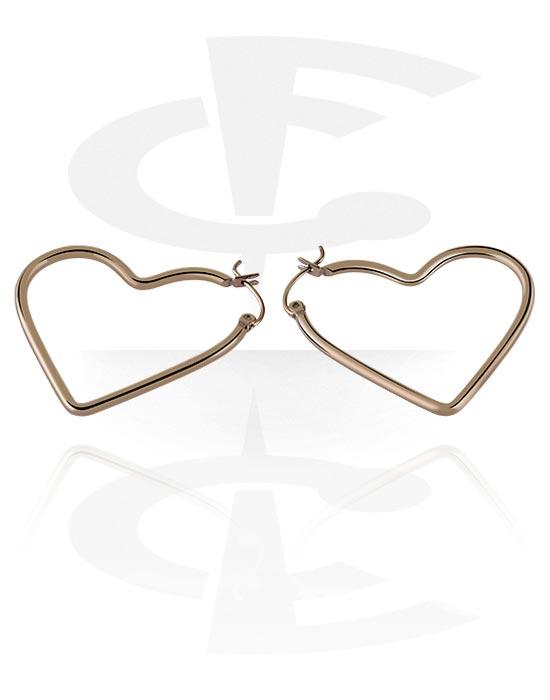 Naušnice, Earrings s Heart Design, Kirurški čelik 316L