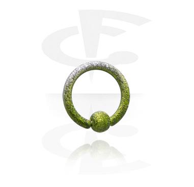 Piercing Anillos, Ball closure ring de colores, Acero quirúrgico 316L