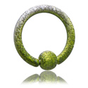 Piercingové kroužky, Colored Ball Closure Ring, Surgical Steel 316L