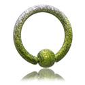 Piercingringar, Färgad ball closure ring, Pläterat roséguld