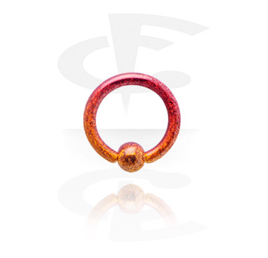 Piercing Rings, Colored Ball Closure Ring, Surgical Steel 316L