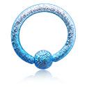 Anneaux, Ball Closure Ring coloré, Acier chirurgical 316L