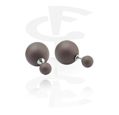 Double ball ear studs
