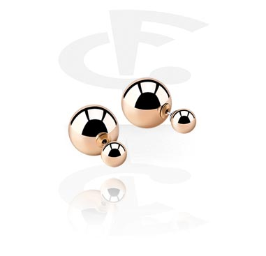 Boucles d'oreilles à deux boules