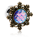 Tunnels & Plugs, Tunnel with Mermaid design, Surgical Steel 316L