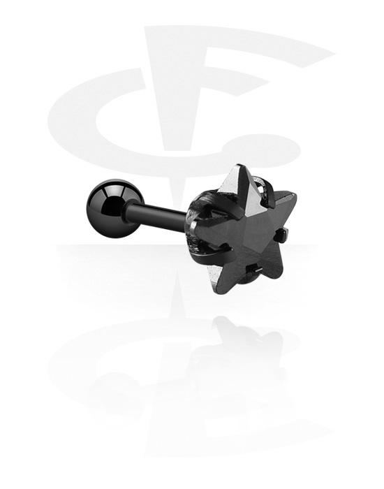 Helix / Tragus, Helix piercing kanssa star design, Kirurginteräs 316L