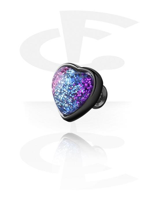 Palloja, nappeja ynnä muuta, Attachment for Industrial Barbell kanssa Heart Design, Pinnoitettu messinki