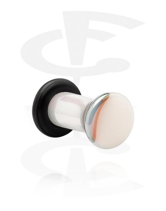 Tunnels & Plugs, Single Flared Plug with O-Ring, Acrylic