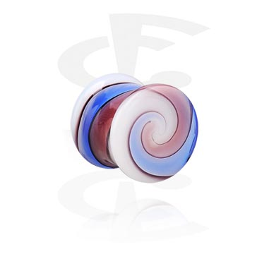 Tunnels & Plugs, Double Flared Plug, Verre