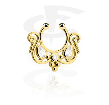 Jewelled Fake Septum