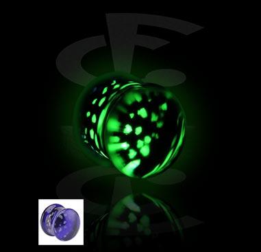 Tunely & plugy, Glow in the Dark Flared Plug, Glass