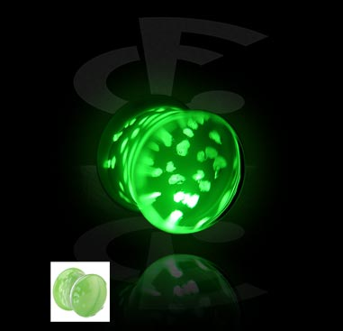 "Flared Plug ""Glow in the Dark"""