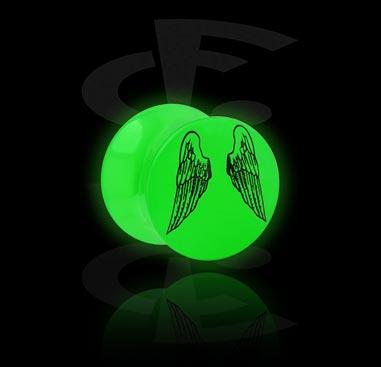 Glow in the Dark Plug met vleugel-design