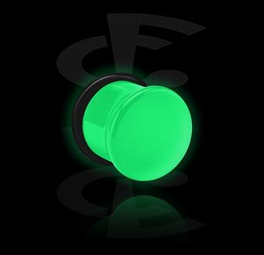 """Single flared plug """"Glow in the Dark"""""""