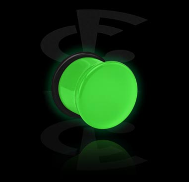 Glow in the Dark Single Flared Plug