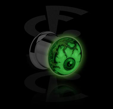 "Tunnels & Plugs, ""Glow in the Dark""-Tunnel, Surgical Steel 316L"