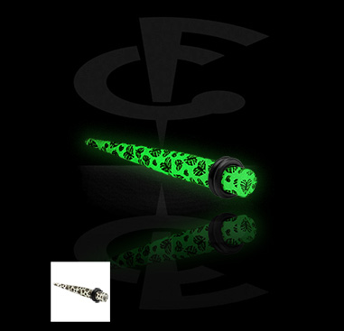 Glow in the Dark Expander with Leaf Motive