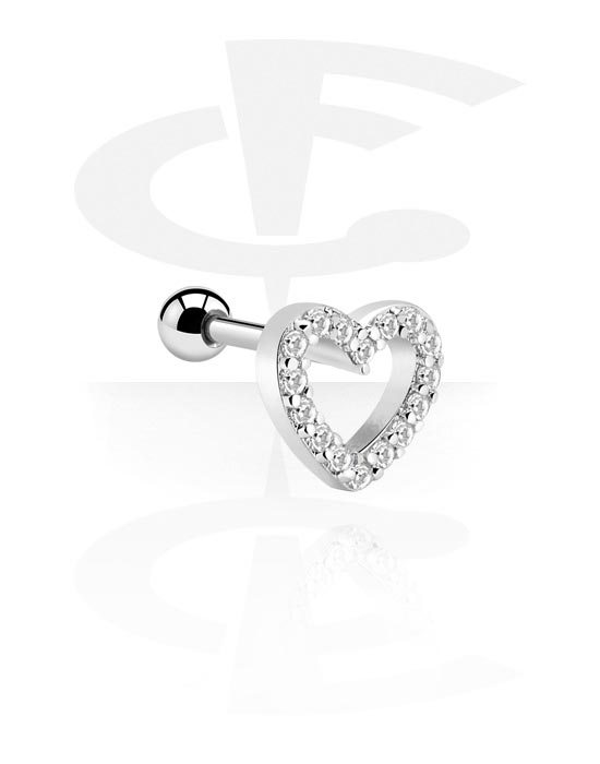 Helix / Tragus, Tragus Piercing, Surgical Steel 316L, Plated Brass