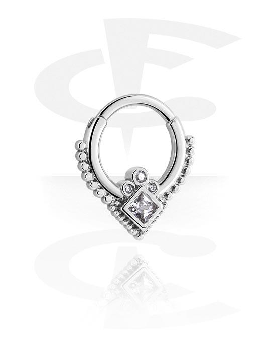 Alke za piercing, Višenamjenski kliker s crystal stones, Kirurški čelik 316L
