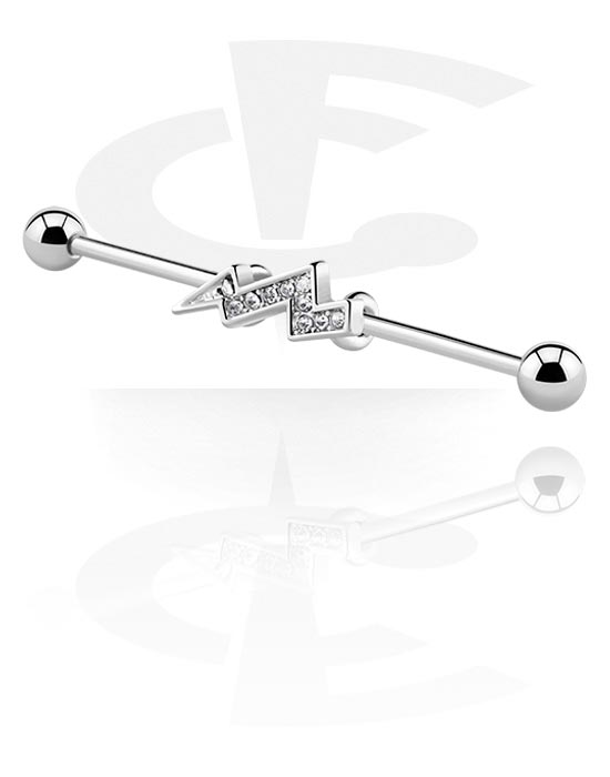 Barbellit, Industrial Barbell, Kirurginteräs 316L, Pinnoitettu messinki