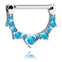 Biżuteria do piercingu sutków, Nipple Clicker z crystal stones, Surgical Steel 316L