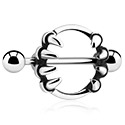 Biżuteria do piercingu sutków, Nipple Shield, Surgical Steel 316L
