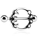 Bröstvårtspiercingar, Nipple shield, Kirurgiskt stål 316L