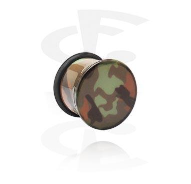 Tunnels & Plugs, Single flared plug, Acrylique