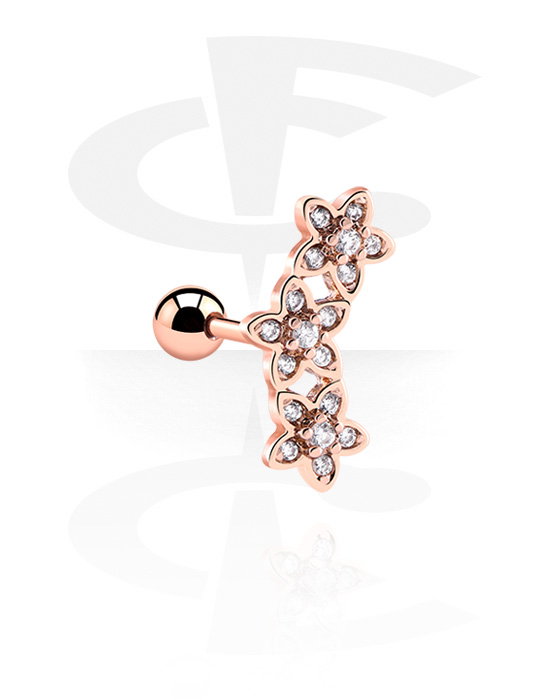 Helix / Tragus, Tragus Piercing, Kirurški čelik pozlaćen ružičastim zlatom 316L