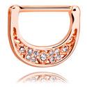 Biżuteria do piercingu sutków, Nipple Clicker, Rosegold Plated Surgical Steel 316L
