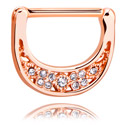 Nipple Piercings, Nipple Clicker, Rosegold Plated Surgical Steel 316L