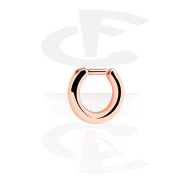 Piercings Nez, Septum à clipser, Acier plaqué or rose