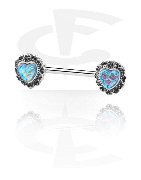 Biżuteria do piercingu sutków, Nipple Barbell, Stal chirurgiczna 316L