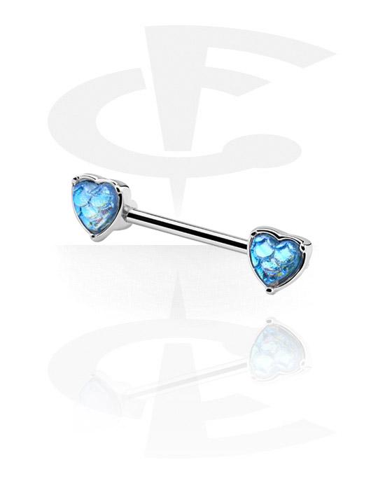 Biżuteria do piercingu sutków, Nipple Barbell, Stal chirurgiczna 316L, Powlekany mosiądz