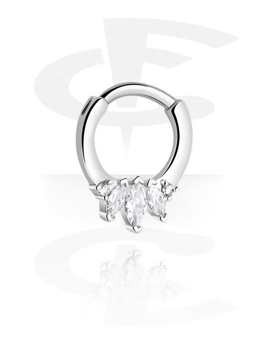 Renkaat, Monikäyttönipistin kanssa crystal stones, Kirurginteräs 316L