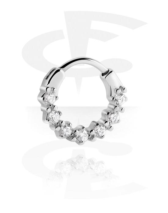 Nose Jewellery & Septums, Septum Clicker with Hinge, Surgical Steel 316L