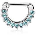 Nose Jewellery & Septums, Septum Clicker, Surgical Steel 316L, Plated Brass